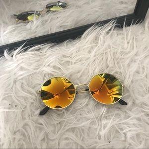 Sunset Round Circle Mirrored Sunglasses